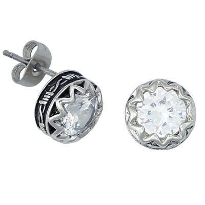 Crystal Barbed Wire Stud Earrings