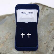Montana Silversmiths Quiet Faith Cross Post Earrings - TB