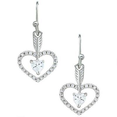 Montana Silversmiths Straight to the Heart Earrings