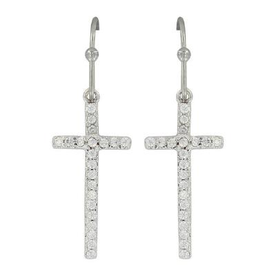 Montana Silversmiths Cross Drop Earrings