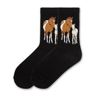 K Bell Mare and Foal Ladies Crew Sock