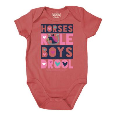 Farm Girl Horses Rule Infant Creeper