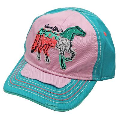Farm Girl Patchwork Horse Youth Baseball Cap