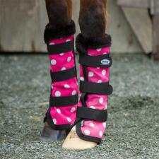 Mackey Equine PINK DOTTY Fly Boots - TB