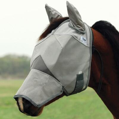 Fly Mask Crusader Long Face With Ears