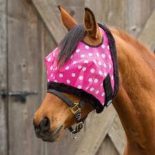 Mackey Equine PINK DOTTY Fly Mask No Ears - TB