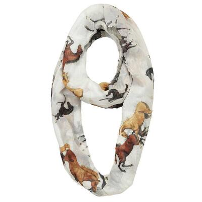 Horses All Over Infinity Scarf