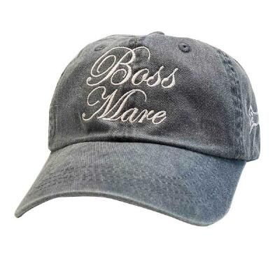 Stirrups Boss Mare Ladies Washed Charcoal Baseball Cap