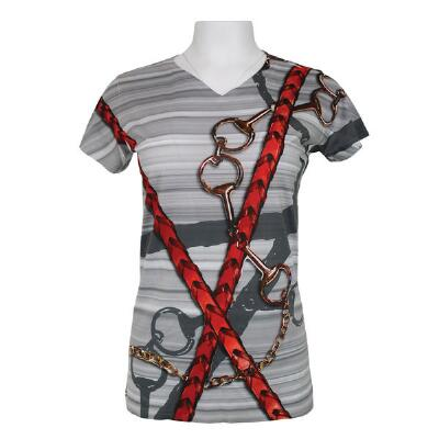 Noble Haus Bits and Reins Ladies Short Sleeve Shirt