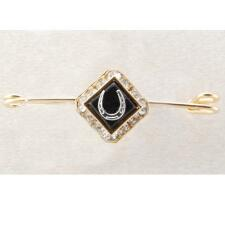 Stock Pin Square Rhondell With Onyx Stone