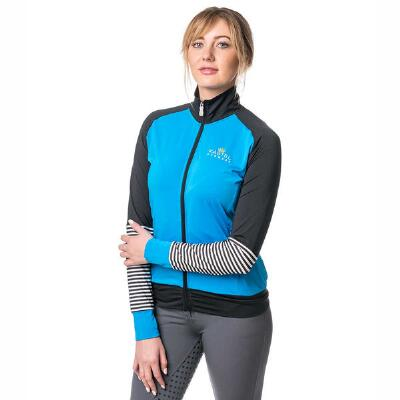 Kastel Ladies Full Zip Ibiza Blue Fitted Jacket