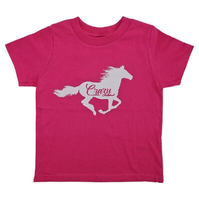 Cowgirls Unlimited Horse Crazy Girls Tee