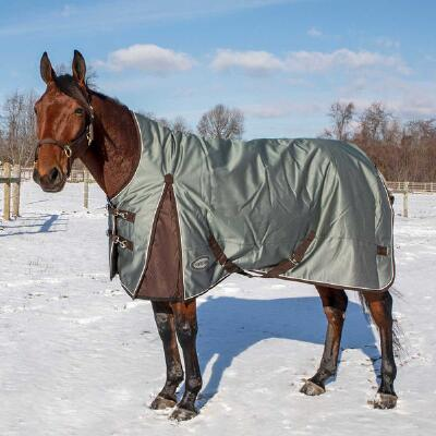 Country Pride Extreme Vortex1680D High Neck Turnout Blanket - Grey