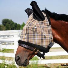 Traditional Plaid Fly Mask - Protective Mesh - TB