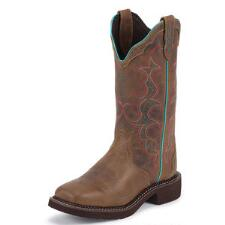 Justin Tan Jaguar Square Toe Ladies Western Boot - TB