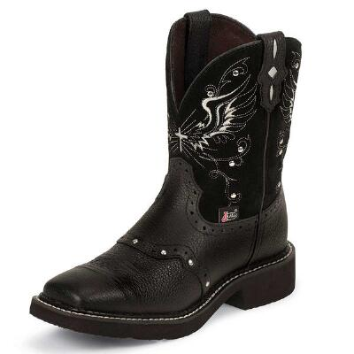 Justin Gypsy Mandra Black Ladies Western Boot
