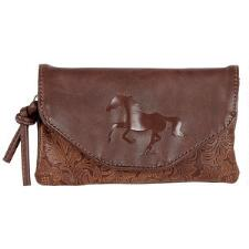 Tooled Leather Cross Body Wallet Style Purse - TB