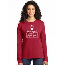 Love you to the Barn and Back Long Sleeve Ladies Tee - TB