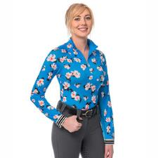 Kastel Ladies Signature Quarter Zip Ibiza Blue Floral Sun Shirt - TB