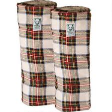 Wilkers Tartan Plaid Combo Quilted Leg Wraps - Pair - TB