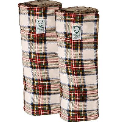 Wilkers Tartan Plaid Combo Quilted Leg Wraps - Pair