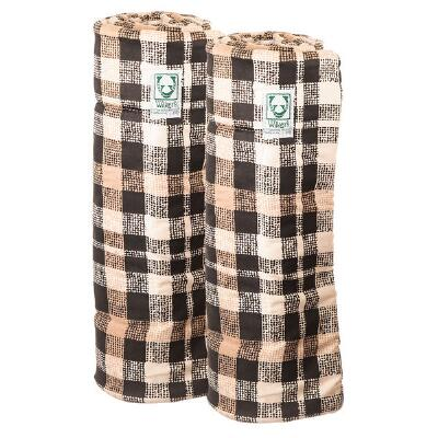 Wilkers Black Plaid Combo Quilted Leg Wraps - Pair