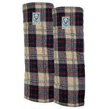 Wilkers Windsor Plaid Combo Quilted Leg Wraps - Pair - TB