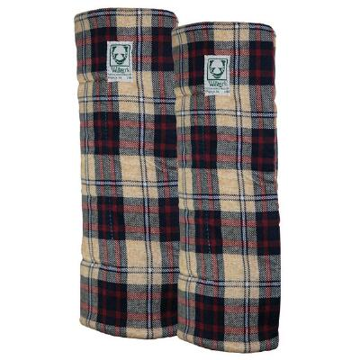 Wilkers Windsor Plaid Combo Quilted Leg Wraps - Pair