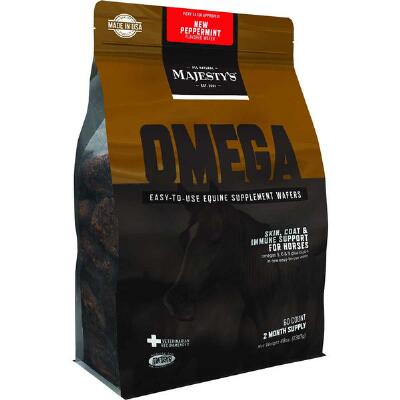Majestys Omega Peppermint Wafers 60 day