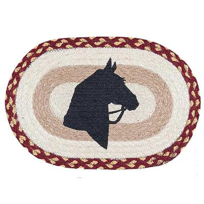 Capitol Earth Rugs Horse Silhouette Oval Trivet