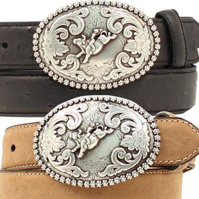 Boys Western Belt With Bull Rider On Buckle