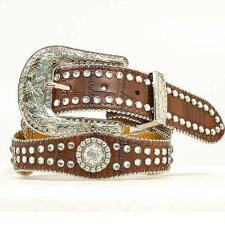 Nocona Girls Western Belt With Rhinestone Conchos - TB