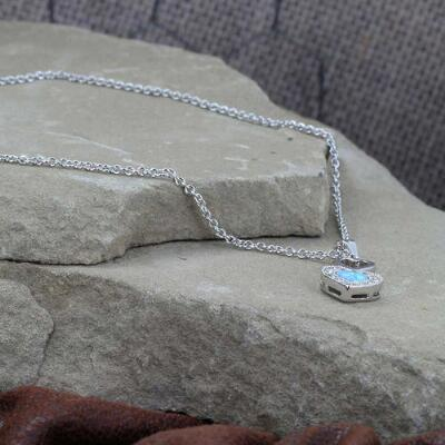 Montana Silversmiths Heart Opal Necklace