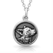 Montana Silversmiths Happy Tails Corgi Necklace - TB