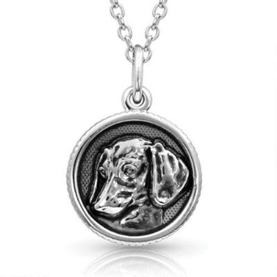 Montana Silversmiths Happy Tails Dachshund Necklace