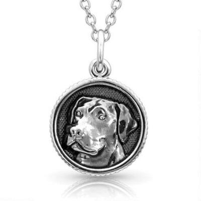 Montana Silversmiths Happy Tails Labrador Necklace