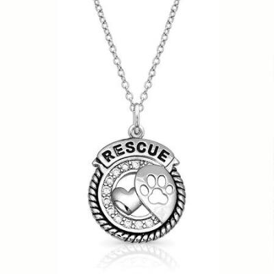 Montana Silversmiths Happy Tails Rescue Necklace