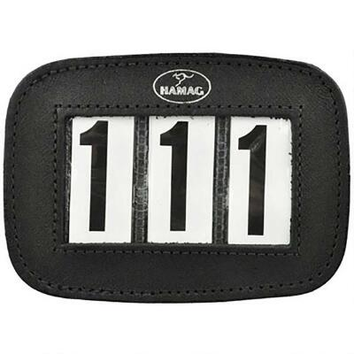Hamag Leather Bridle Number Holder