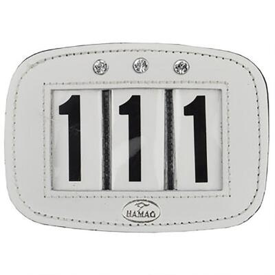 Hamag Leather Number Holder with Swarovski Crystals