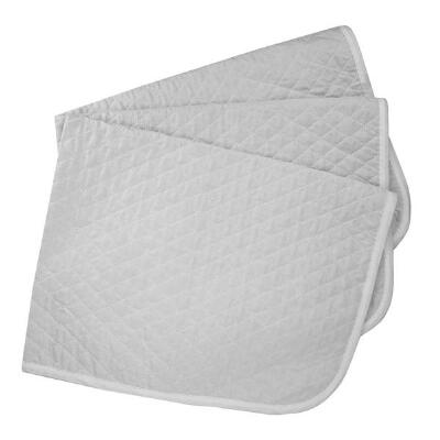 Baby Pad Quilted 3 pack White