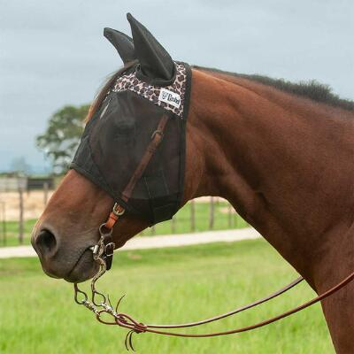 Cashel Quiet Ride Leopard Print  Fly Mask with Ears