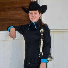 Zip Double Collar Ladies Western Show Shirt - TB