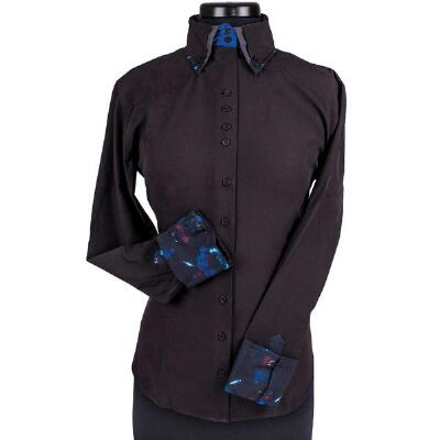 Double Collar Technical Ladies Western Show Shirt