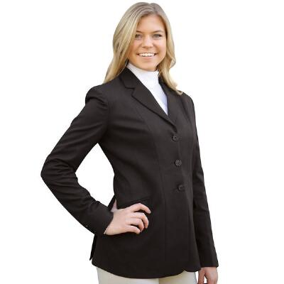 Three Button Easy Care Stretch Ladies Show Coat