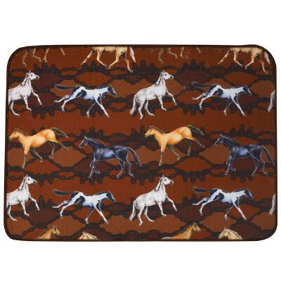 Wild Horses Dish Drying Mat