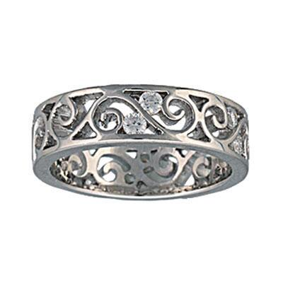 Western Twostep Open Filigree Ring