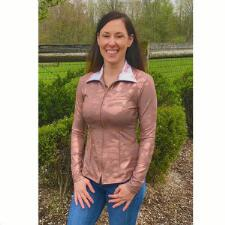 Sundial Rose Gold Camo Ladies Western Show Blouse - TB