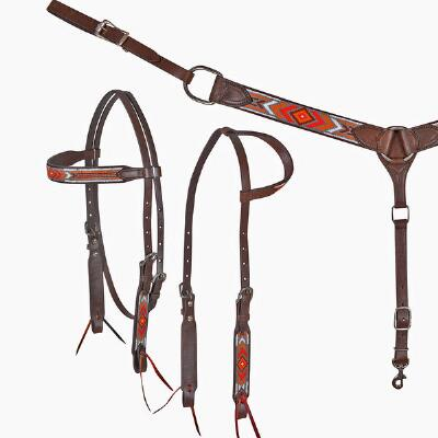 Cashel Gallup Beaded Browband Headstall