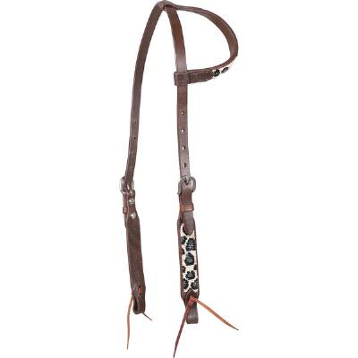 Cashel Grey Cheetah Slip Ear Headstall