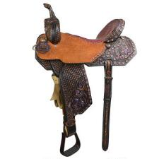 Pozzi Pro Vintage Barrel Saddle 14.5 Inch Seat - Floor Model - TB